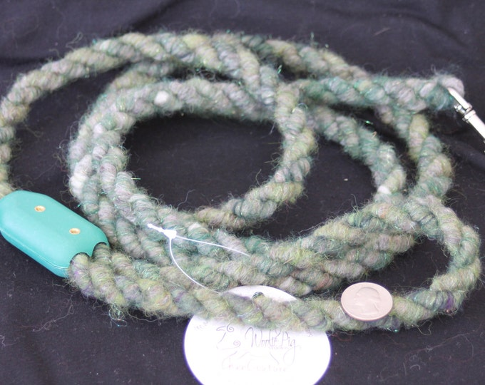 Dog Leash- Handcrafted- Alpaca-Wool and other natural Fibers - DLS-01