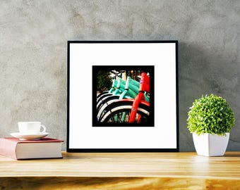 INSTANT DOWNLOAD of Bikers Row, TTv, Wall art, ttv photography, Vintage prints, square prints, print your own