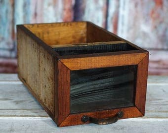 Antique Wooden Storage Drawer