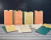 Vintage Report Cards