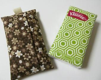 Tissue Case/Brown Flower