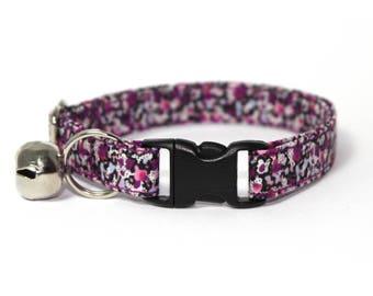 "Purple Floral Liberty Cat Collar - ""Joanna"""