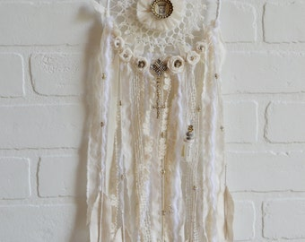 Dreamcatcher, Dream Catcher, Boho Dreamcatcher, Medium Dreamcatcher, Dream Wish Bottle, Religious Wall Decor
