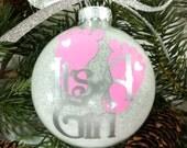 Baby Girl Gender Reveal Christmas Ornament, Christmas Gift, Baby Shower Gift, It's A Girl, Baby Girl Ornament