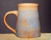 Blue Fern Mug, 24oz. Extra Large Handmade stoneware, Microwave friendly