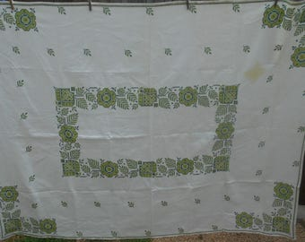 Vintage Tablecloth- Linen Tablecloth