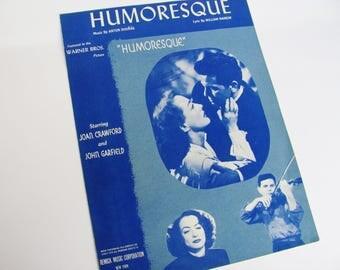Sheet Music Humoresque 1946 Joan Crawford John Garfield Movie