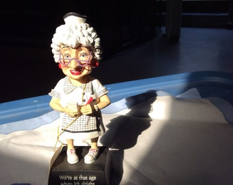 CLEARANCE Old Biddy Bobble Head