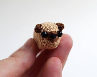 Tiny crochet pug