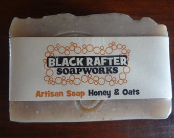 "Black Rafter SoapWorks ""Honey and Oats"" Artisan Soap"