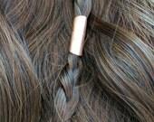 Copper hair bead Viking hair Jewelry