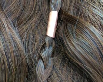 Copper hair bead Viking hair Jewelry   SCA garb   Hair decor   Larping   metal hair bead