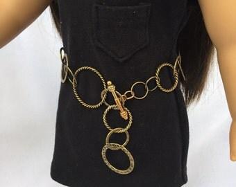 18 inch doll brass belt