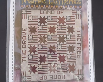 Moda - Land Of The Free Home Of Brave PRI 561 Primitive Gathering Quilt Pattern