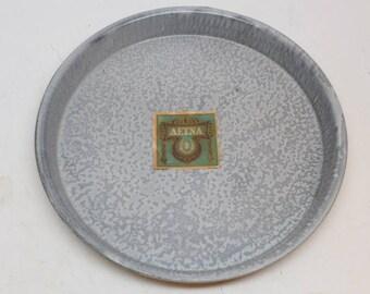 Enamelware Pie Plate - Aetna Pie Plate - Graniteware Pie Plate - Baking - Vintage Kitchen