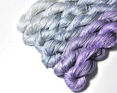 GRADATION Set of Pure Silk Fingering  in Silver Wings - One of a Kind