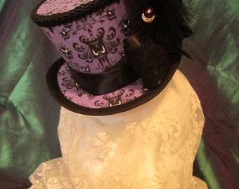 Haunted Mansion, Steampunk, Gothic, Halloween-ish Mini Top Hat