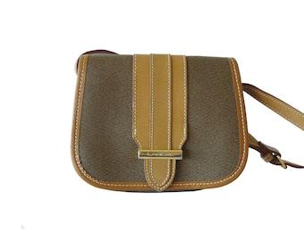 Lancel Paris Mini Messenger Crossbody Shoulder Bag Made in France