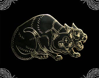 Bastet and Sekhmet hard enamel pin fundraiser