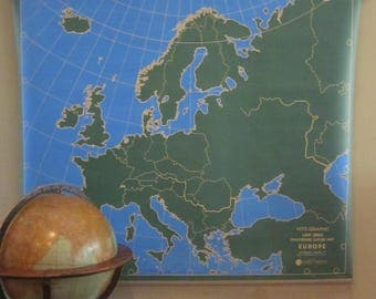 Vintage Chalkboard Outline Vito-Graphic Map of Europe by Weber Costello