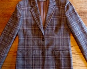1980s Women's PENDLETON, Blue Grey Blazer in Perfect Shape! Medium. Pure Wool. Made in Oregon, USA!