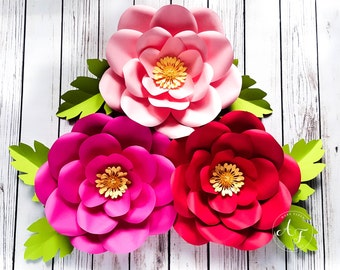 Backdrop Flowers - Paper Flowers - Wedding - Photo Prop - Backdrop - Extra Large Flowers - Set of 3 - Made To Order
