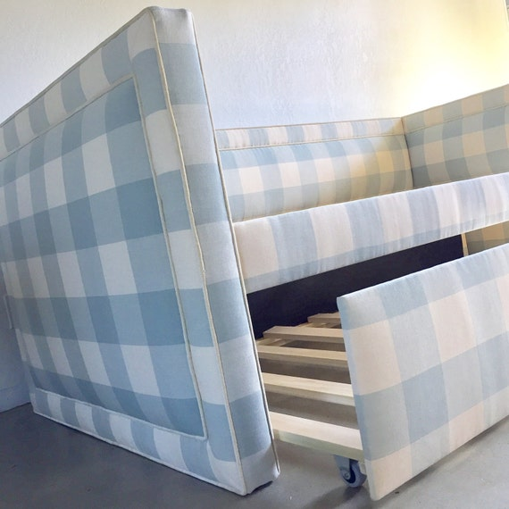 Custom Upholstered Daybed w/Inset Piping Detail AND Rolling Trundle - Design Your Own