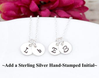 Add a Sterling Silver Hand Stamped Initial to your Pretty Twisted Jewelry Necklace
