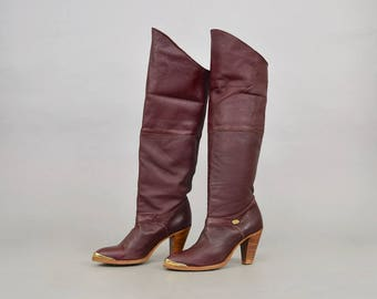 DINGO Over-The-Knee Leather Boots (US 8)