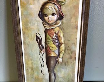 Vintage Maio Harlequin Boy Framed 3D Print