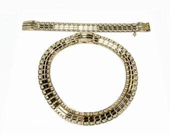 Sarah Coventry Turn A Bout Necklace Bracelet Set Reversible Necklace