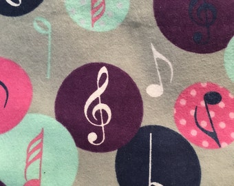 Music - FLANNEL - 1 yard
