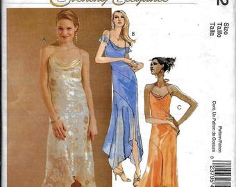 McCall's M4832 Evening Elegance Evening Dress Bias, Loose Fitting, Flared Shaped Hemline Sewing Pattern 4832 Size 14, 16, 18, 20