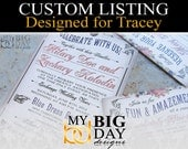 Tracey's Wedding Invitation sets: 125, with white envelopes