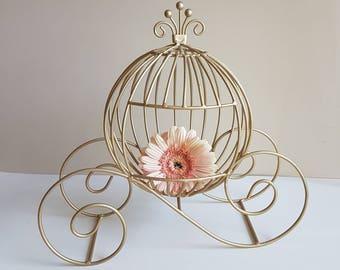 Medium Fairytale Cinderella Pumpkin Carriage  Centerpieces