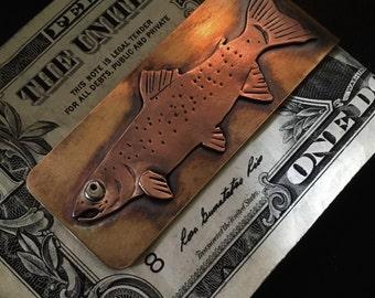 Rainbow trout money clip