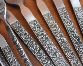 Lifetime Cutlery Flatware with Embossed Roses on Handle LCU 28 BIN 57