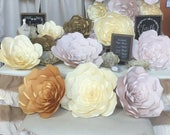 SALE Large Paper Flower Blush Paper Flower Handmade Paper Flower