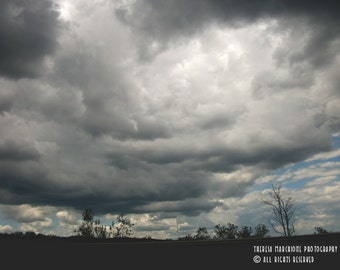 "Signed Original Photograph ""A PERILOUS SKY"" ∎ Print With Mat ∎ Or Print Only"