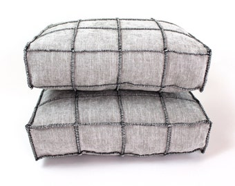 Pierre Frey Cube Cendre/Black Box Pillows