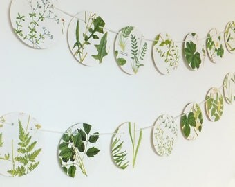 Wedding Garland,  Wedding decor, Greenery Bunting, Natural Wedding, Garland, paper bunting