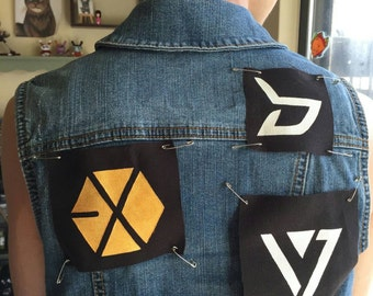 Kpop custom painted canvas patches