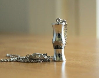 Whistle Pendant - Cute Vintage Small Signed Japan Whistle Charm Necklace