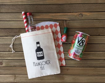 Hangover Kits - Bachelor Party Favor Bags - Hangover Kit Bags - Bachelorette Party Favors - Bachelorette Hangover Kit bags - Bachelorette
