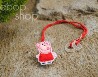 Girl Pig - Hearing Aid Cord or Cochlear Implant Cord