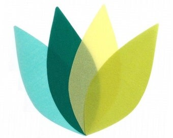 Colorful Mobile in Summer Lemonade Tree Leaves Moon Lily Mobile