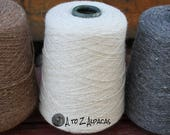 100% Alpaca Yarn - Sock Weight - Natural White 1616 yards - On a convenient cone