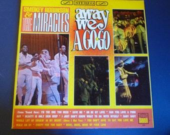 Smokey Robinson & The Miracles Away We A GO GO Vinyl Record TS271 Motown Record 1966 Rare