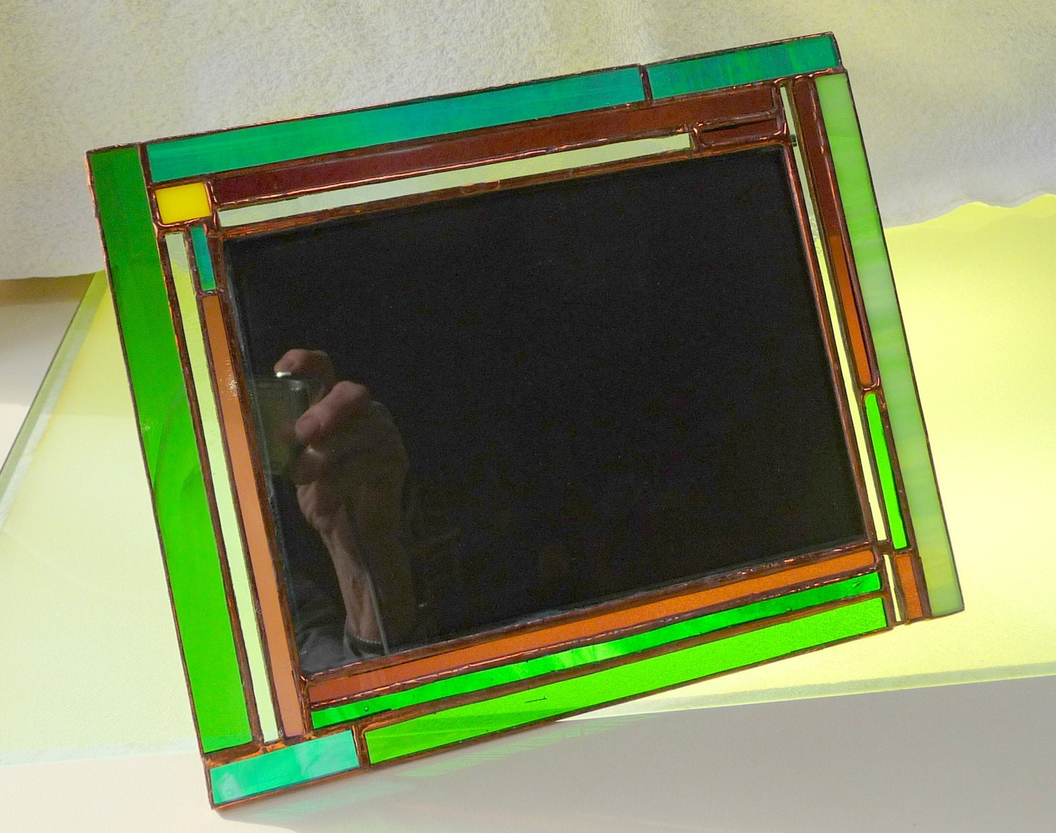 Stained glass picture frame greens purple picture frame 5 x 7 gallery photo gallery photo gallery photo gallery photo jeuxipadfo Images