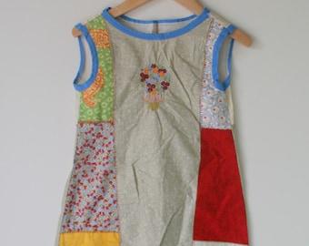 Vintage ETHNIC BOHO Girls Dress....size 4 girls....kids. children. urban. african. aztec. hippie. boho. urban. indie. hippie kids. cream